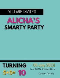 SMARTY PANTS BRAIN PARTY FLYER TEMPLATE