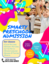 Smarty Preschool Admission Flyer template