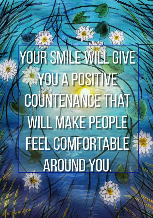 SMILE AND COUNTENANCE QUOTE TEMPLATE A2