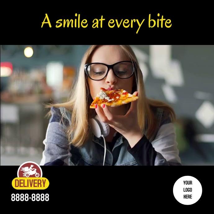 Smile pizza Instagram Instagram-opslag template