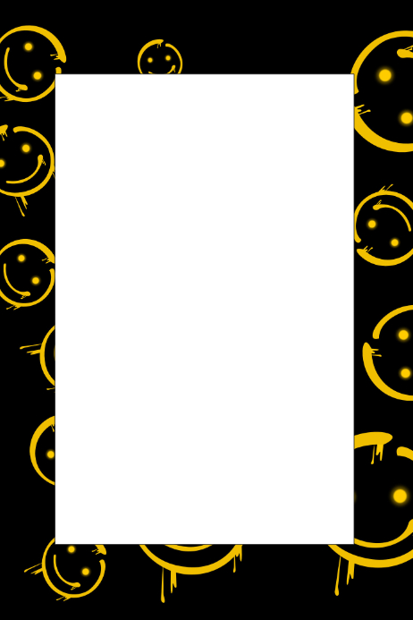 Smiley Face Party Prop Frame Template | PosterMyWall