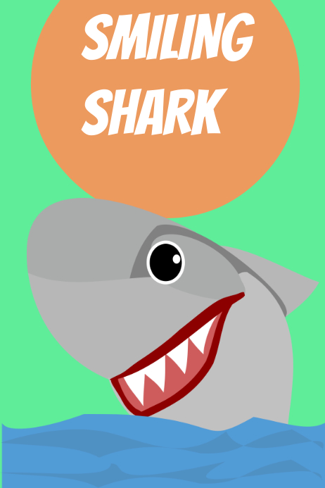 smiling shark template postermywall