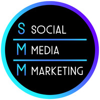 SMM Social Media Marketing Instagram Gradient Logo template