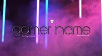 Smoke Bars Video Gamer Gaming Logo Cover template