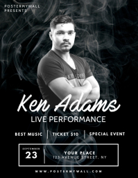 Smoke Black Band Singer concert flyer