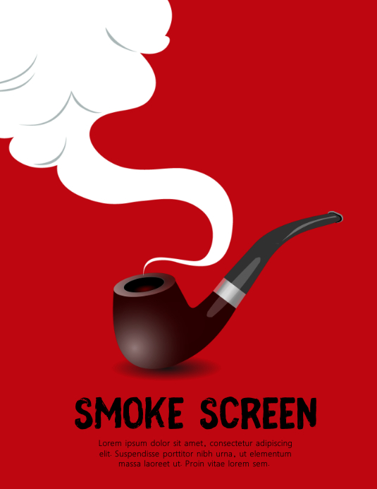 SMOKE SCREEN COVER Løbeseddel (US Letter) template