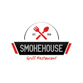 Smokehouse Grill Restaurant Logo template