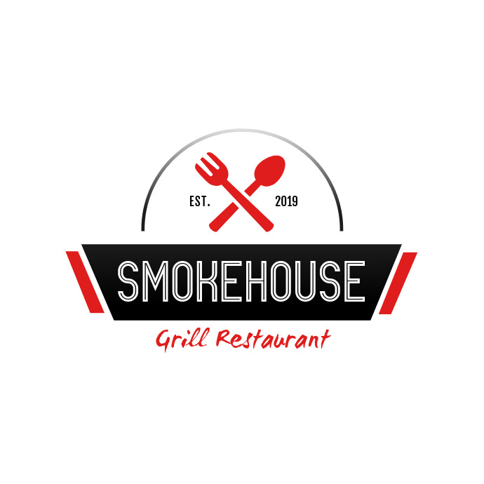 Smokehouse Grill Restaurant Logo Template Postermywall