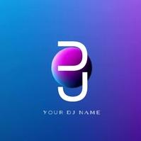 Smokey Modern DJ Logo Video Logotyp template