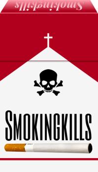 Smoking Kills Sign Box Template