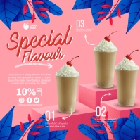 Smoothie Ads Wpis na Instagrama template