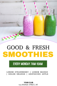 Smoothie menu flyer template
