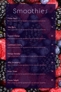 Smoothie Menu Template