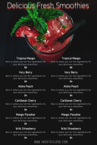 Smoothie Menu Poster Template