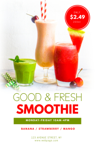 Smoothie stand flyer design template