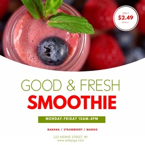 Smoothie stand Video ad template Square (1:1)