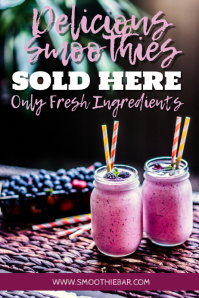 Smoothies & Juice Bar Promotion Template