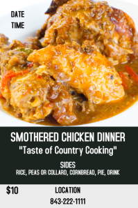 Smothered Chicken Dinner Sale