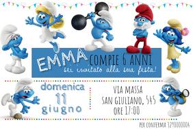 Smurfs Birthday Invitation