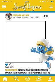 Smurfs Party Prop Frame