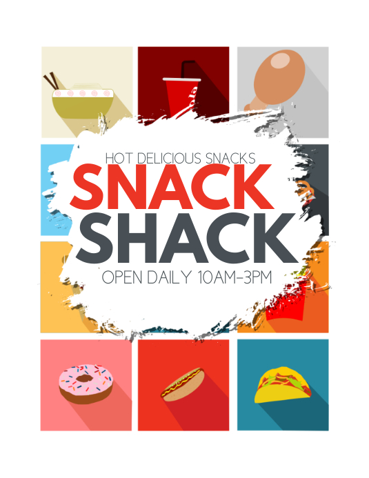 Snacks Flyer (US Letter) template