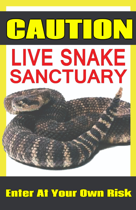 Snake Caution Sign