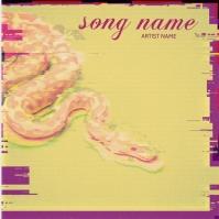 Snake Mixtape cover art design template