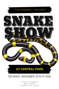 Snake Show Flyer Design Template