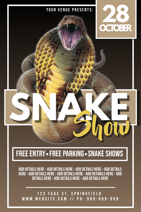 Snake Show Poster Póster template