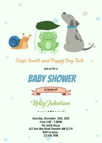 Snips Snails Puppy Dog Tails invitation A6 template