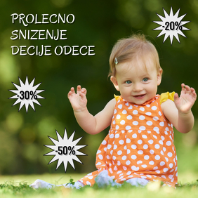 snizenje Prolecno sale discount spring square kids deca ad
