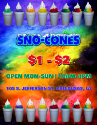SNO CONES SNOW BALL STAND FLYER TEMPLETE template