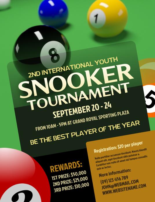 Snooker Tournament Flyer