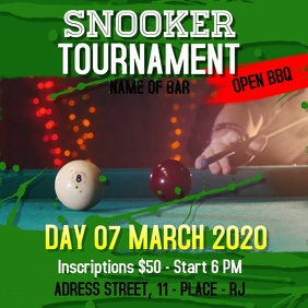 Snooker Tournament Lagarto's Template 1