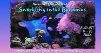 Snorkeling Adventure Vacation Bahamas Video Facebook Event Cover template