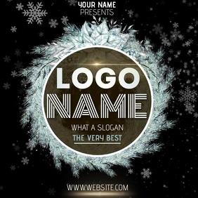 SNOW CHRISTMAS LOGO DESIGN TEMPLATE