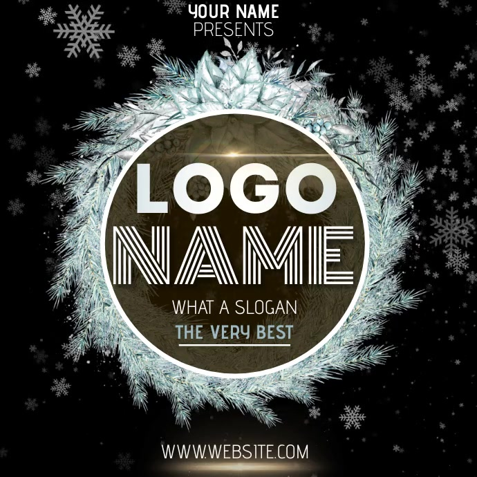 SNOW CHRISTMAS LOGO DESIGN TEMPLATE 徽标