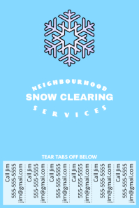 Lawn service poster templates postermywall snow clearing with tear off tabs saigontimesfo