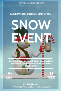Snow event flyer template