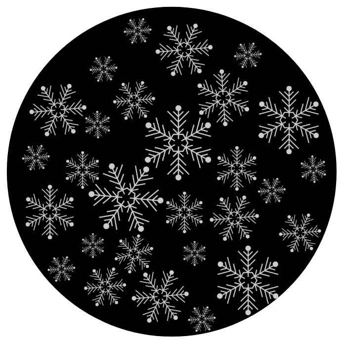 SNOW GOBO PROJECTION 徽标 template