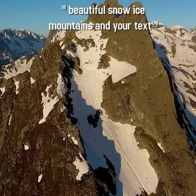 snow ice mountain mountains SOCIAL MEDIA post Square (1:1) template
