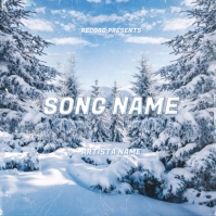snow ice rap single song album cover template