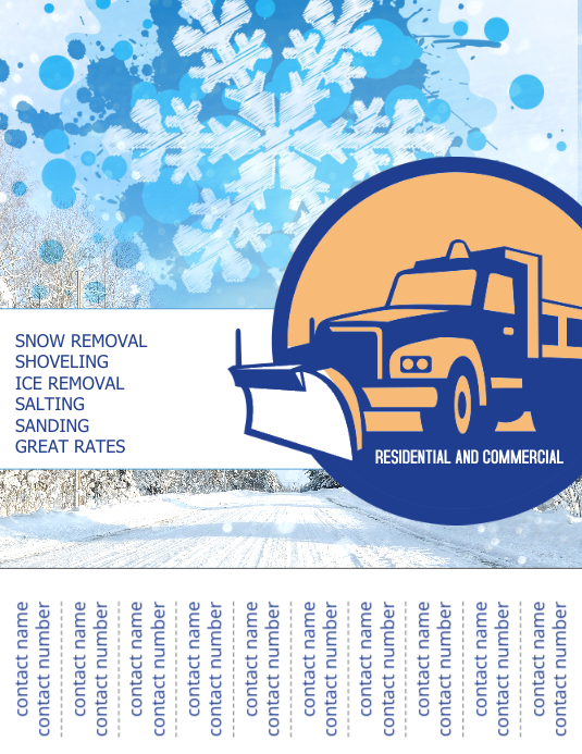 Snow Plowing Service Flyer Template Postermywall