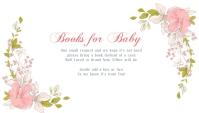Snow Princess Christmas Baby Shower Business Card template
