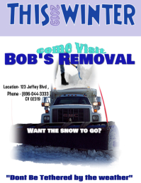 SNOW REMOVAL #3 Flyer (Letter pang-US) template