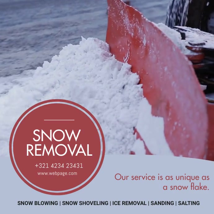 Snow removal Ad Template 方形(1:1)