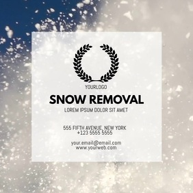 Snow removal business card video template