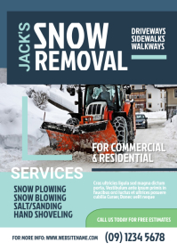 Snow Removal Flyer A4 template