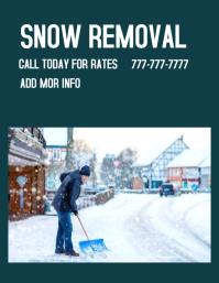 Customizable design templates for snow removal postermywall snow removal template towing service similar design templates saigontimesfo