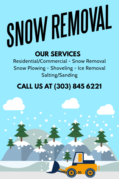 Snow Removal Poster Template Postermywall